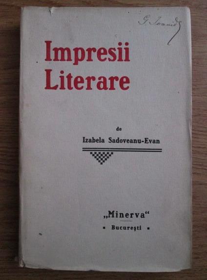 Impresii literare, de Izabela Sadoveanu