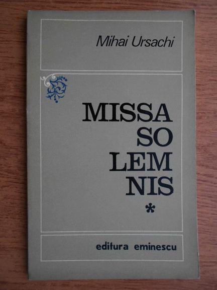 Missa Solemnis, de Mihai Ursachi