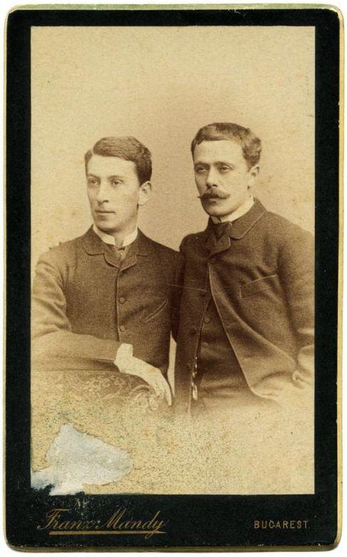 Mateiu și tatăl său, I. L. Caragiale